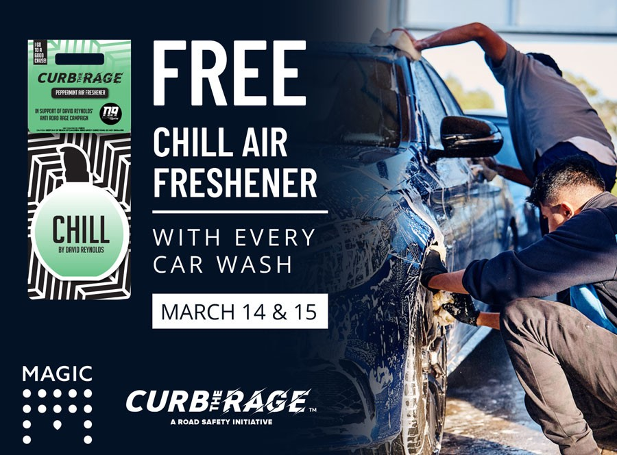 Magic Hand Carwash partners with Curb The Rage campaign